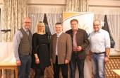 1. Bürgermeister Andreas Strauß, Vorsitzende Manuela Bonardi, Landrat Peter Dreier, Ehrenvorsitzender Josef Heckner, 2. Bürgermeister Bernhard Pritscher