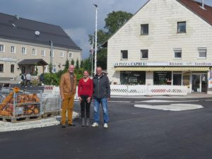 Bürgermeister Andreas Strauß, Yvonne Haller Marktbauamt, Bernhard Pritscher bbi